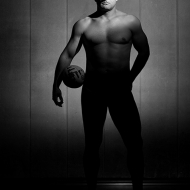 black and white sexy sportsman