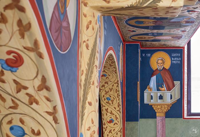 fotografie de interioare biserica pictura fresca